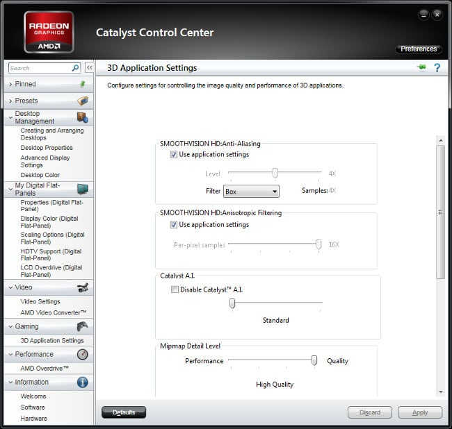 Catalyst control center