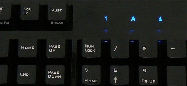 Num Lock на клавиатуре