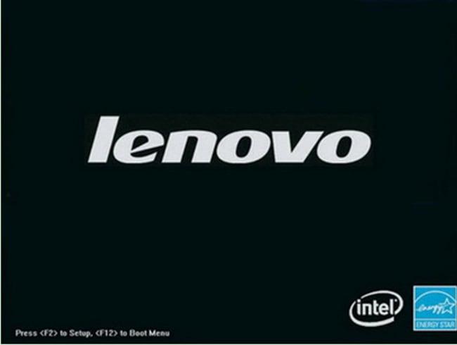 Стартовый экран загрузки ноутбуков Lenovo