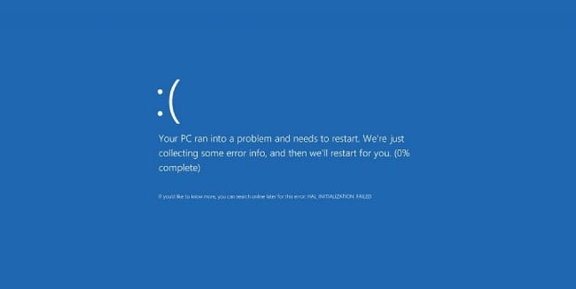 Ошибка в Windows 10 BSoD