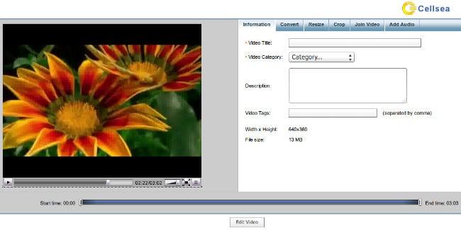 Смонтировать видео и наложить музыку онлайн на Cellsea