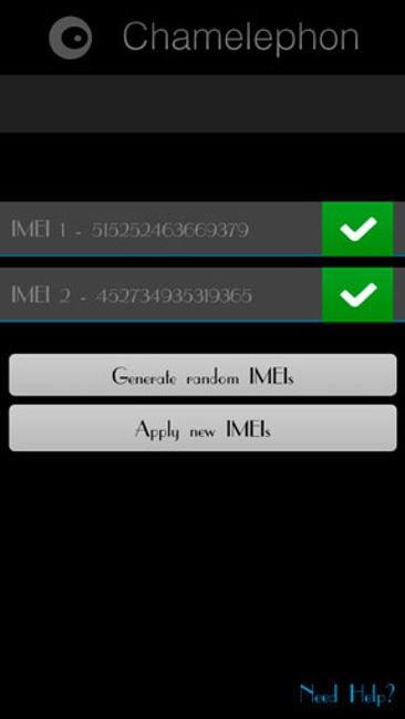 Chamelephon - программа для изменения IMEI на Android