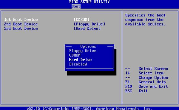 Устанавливаем верную очерёдность загрузки Windows