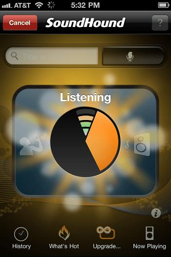 Иллюстрация поиска трека в SoundHound