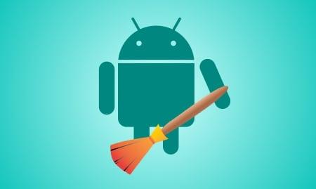 Картинка Андроид с метлой