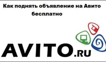 Изучаем, как поднять объявление на Авито бесплатно