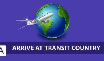 Переводим статус Arrive at transit country на русский язык
