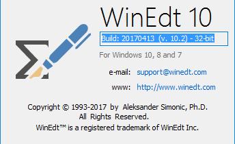 Редактор WinEdt 10 последней версии