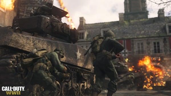 Прячась за танком убивайте встречающихся врагов
