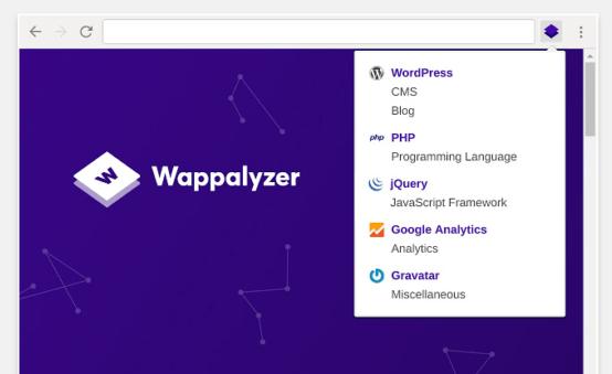 Расширение для браузеров Wappalyzer