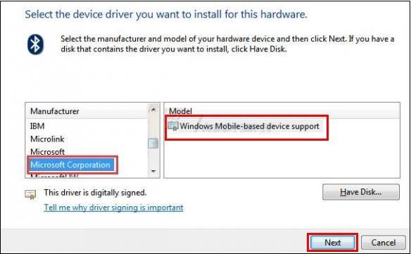 Модель Windows Mobile-based