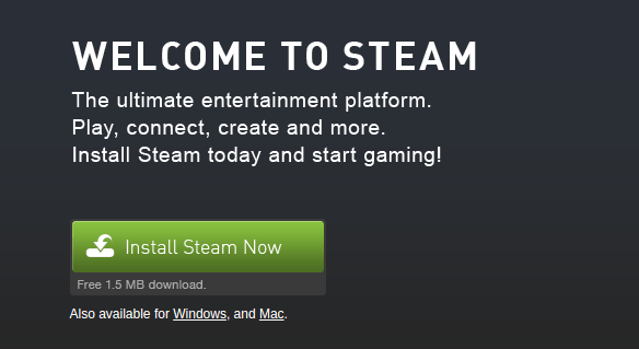 Окно загрузки Steam
