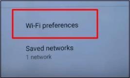 Опция Wi-Fi preferences