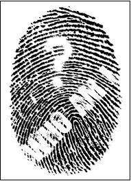 Рисунок слепок пальца