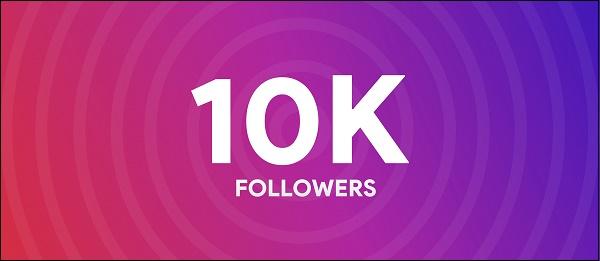 10 тысяч подписчиков Инстаграм