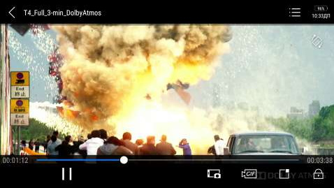 Просмотр фильма с Dolby Atmos