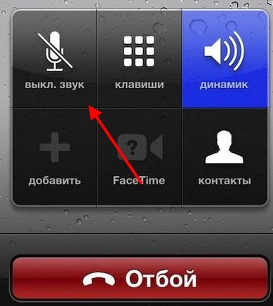 Кнопка отключения громкой связи