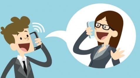 Рисунок общения по мобильному