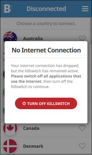 Отключите VPN