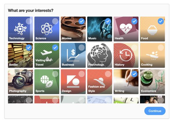 Интересы Quora