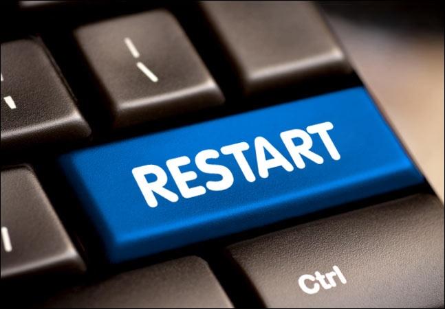 Кнопка Restart