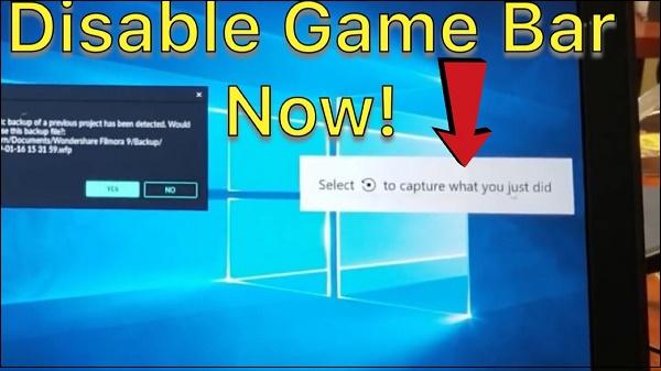 Картинка отключение Xbox Game Bar
