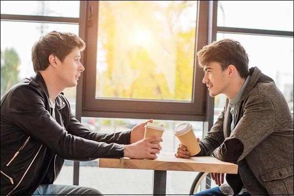 Фото разговора парней