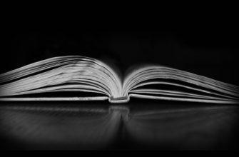 Черно-белое фото книги