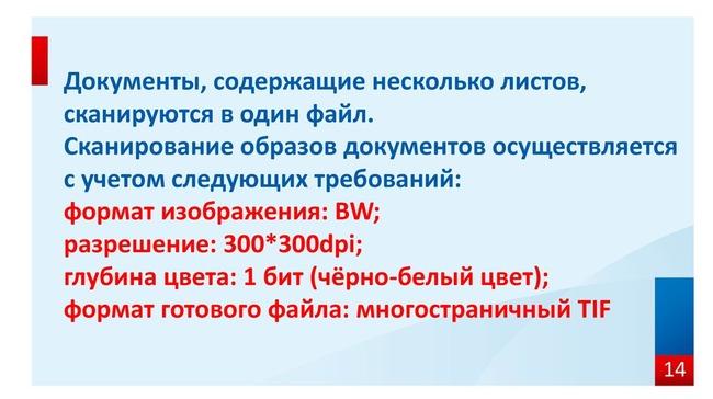 Официальные требования к документам