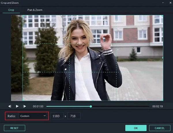 Flimora позволяет обрезать кадр и убрать водяной знак с видео.