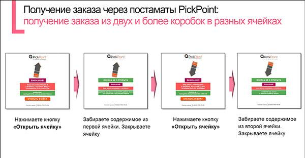 Получение заказа из двух и более коробок в разных ячейках