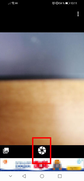 Кнопка затвора фотоаппарата