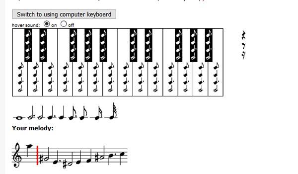 Ввод нот в инструменте