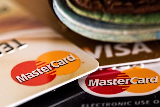Мернр платежных карт крупным планом
