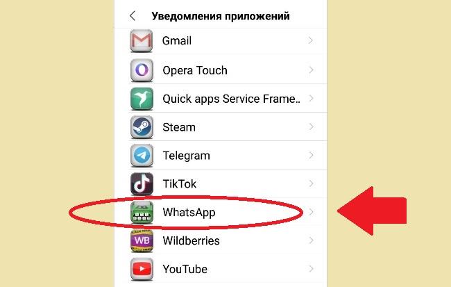 WhatsApp в перечне программ