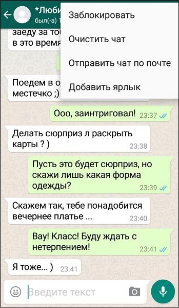 Переписка Whatsapp