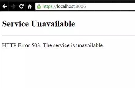 Ошибка 503
