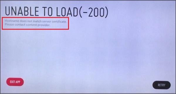 Ошибка 200 Hostname does not match