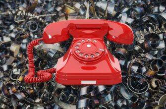 Красный телефонный аппарат