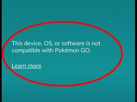 Скриншот ошибки в Покемон го