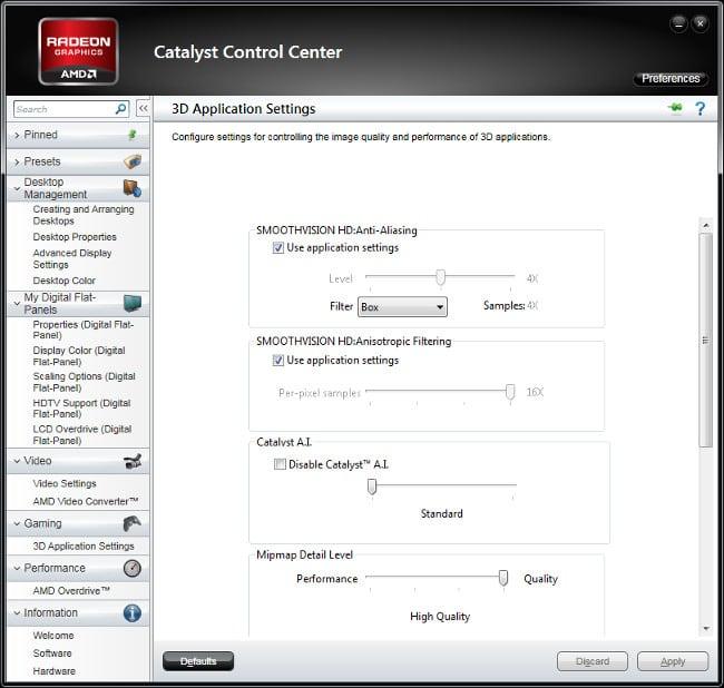 Catalyst control center