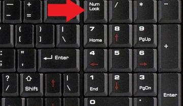 Не работают цифровые клавиши справа
