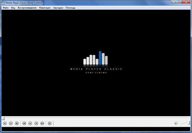 Окно проигрывателя Media Player Classic
