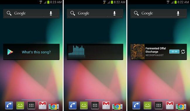 Поиск музыки по звуку в Google Play Music