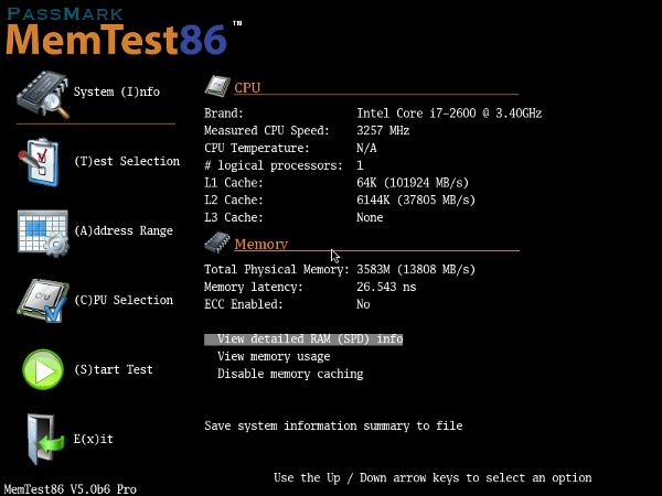 Утилита Memtest86