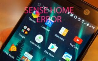 Ошибка в приложении Sense Home