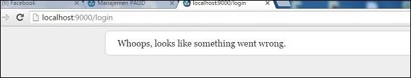 Проблемный мессадж в окне браузера