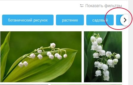 Стрелка для отображения других фильтров в Яндекс